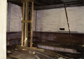 Inside of Church before Restoration Began