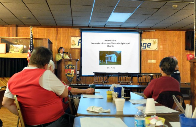Georgia Kestol-Bauer at the Janesville, Wisconsin Chapter of the Sons of Norway