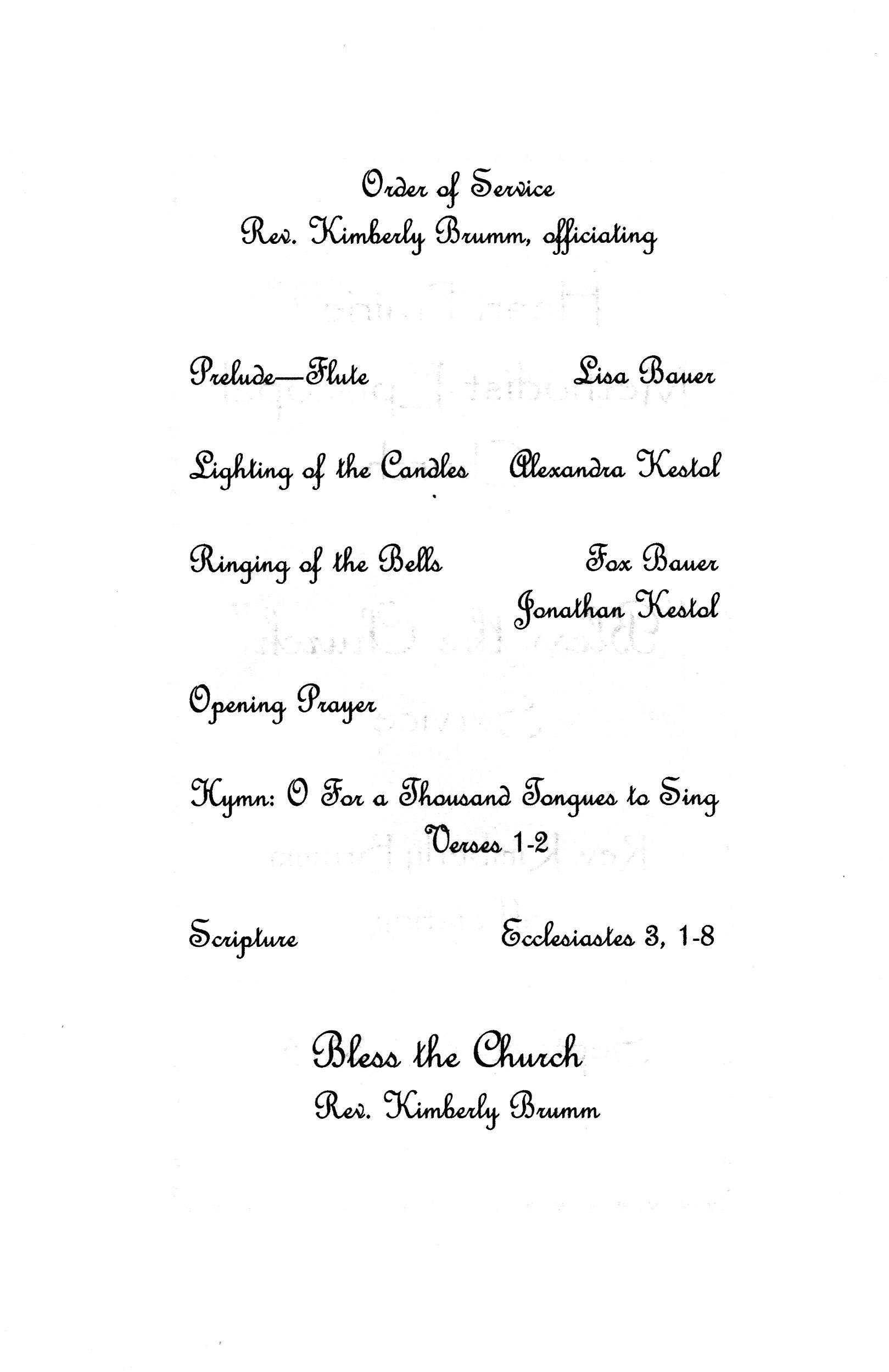 Bless the Church Program 02 – The Norwegian American Methodist ...
