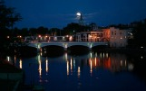 Moonrise over Fort Atkinson, Wisconsin