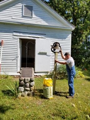 Jim Holden Installing the Church Bell