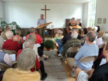 Reverend Froemming with the Dulcimer
