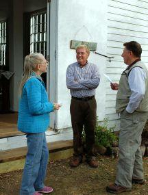 Reverend Froemming, Arlene Fischer, and Jim Holden